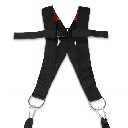 Padded Nylon Sled Harness with Pull Straps Black - Nylon