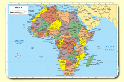 Painless Learning AFC-1 Africa Placemat