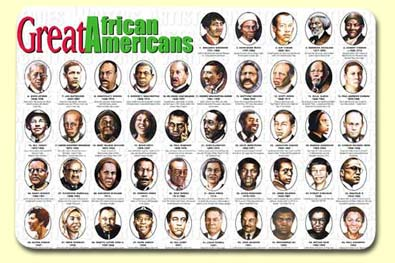 Painless Learning AFR-1 Great African Americans Placemat