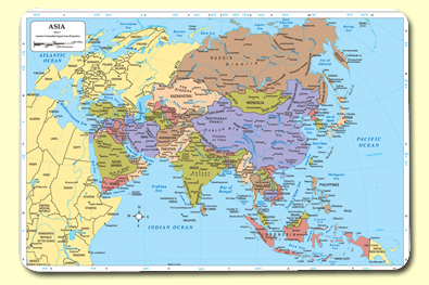Painless Learning ASA-1 Asia Placemat