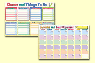 Painless Learning CAL-1 Calendar and Chores Placemat
