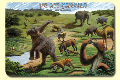 Painless Learning ICE-1 Ice Age Placemat