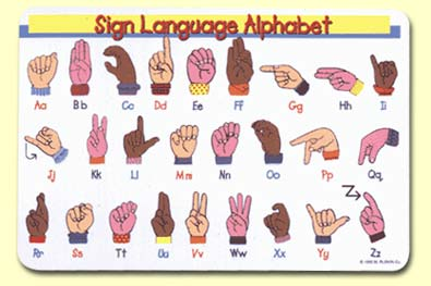 Painless Learning SIN-1 Sign Language Placemat