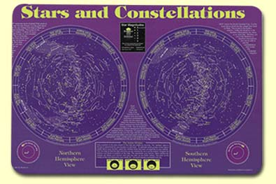 Painless Learning STA-1 Stars & Constellations Placemat
