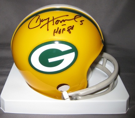 Paul Hornung Green Bay Packers NFL Autographed Mini Football Helmet with HOF '86 Inscription
