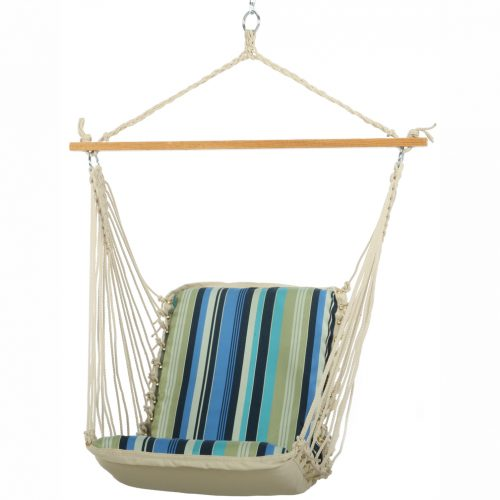 Pawleys Island Cushioned Single Swing (Beaches Stripe)