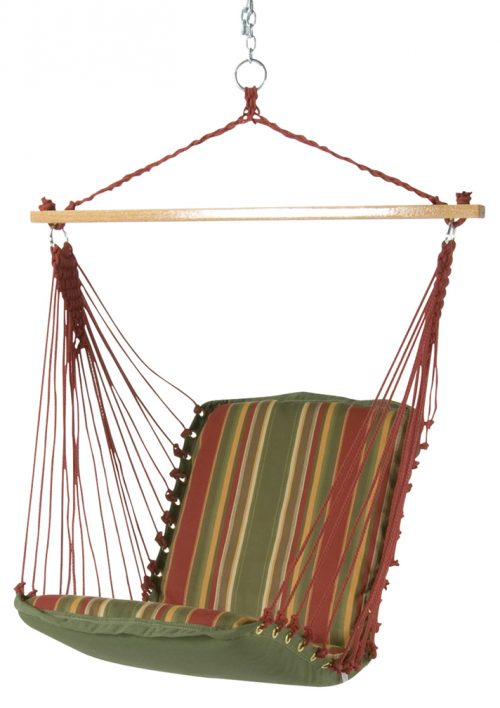 Pawleys Island Cushioned Single Swing (Trellis Garden Stripe)