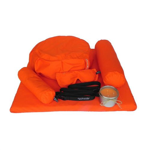 Peach Blossom Yoga 11001 7 Piece Deluxe Yoga Set - Orange