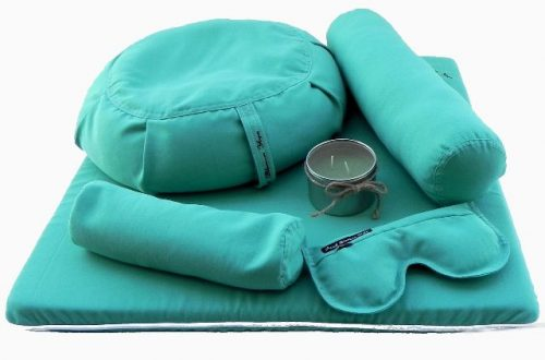 Peach Blossom Yoga 11001 7 Piece Deluxe Yoga Set - Teal