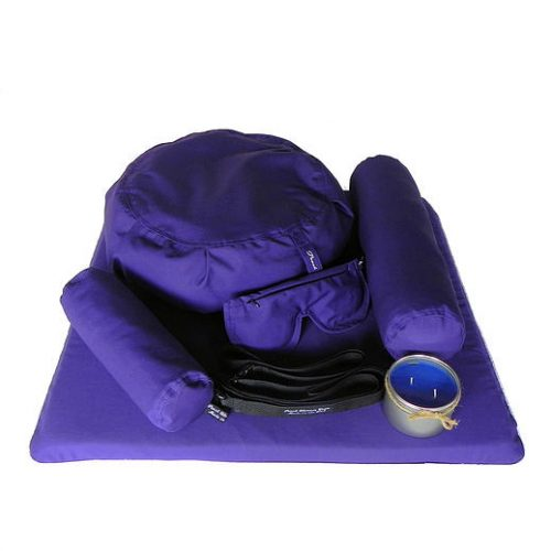 Peach Blossom Yoga 11001 7 Piece Deluxe Yoga Set - Violet