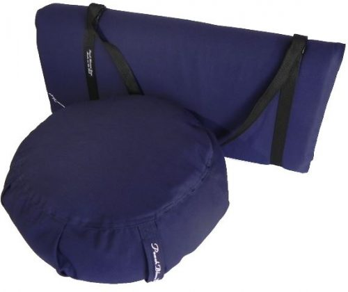 Peach Blossom Yoga 11003 3 Pieces Yoga Studio Set -Zafu Zabuton Set With Strap Indigo