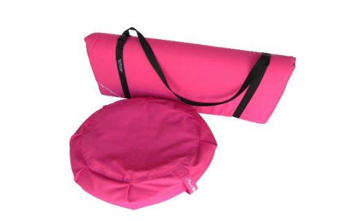 Peach Blossom Yoga 11003 3 Pieces Yoga Studio Set -Zafu Zabuton Set With Strap Pink