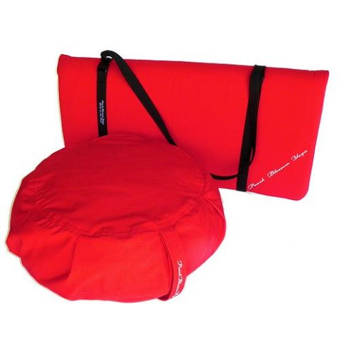 Peach Blossom Yoga 11003 3 Pieces Yoga Studio Set -Zafu Zabuton Set With Strap Red
