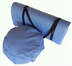 Peach Blossom Yoga 11003-A3 Yoga Studio Set -Zafu-Zabuton Set With Stap - A3 Light Blue