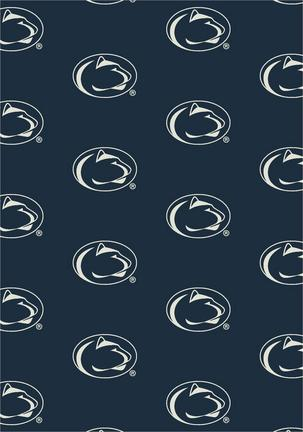 "Penn State Nittany Lions 3' 10"" x 5' 4"" Team Repeat Area Rug"