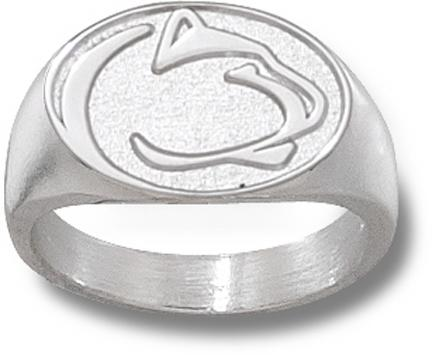 "Penn State Nittany Lions ""Lion Head"" 1/2"" Men's Ring Size 10 - Sterling Silver Jewelry"