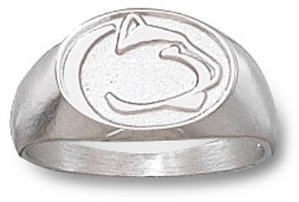 """Penn State Nittany Lions """"Lion Head"""" Ladies' Ring Size 6 - Sterling Silver Jewelry"""