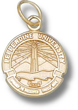 """Pepperdine Waves """"Seal"""" 1/2"""" Charm - 10KT Gold Jewelry"""