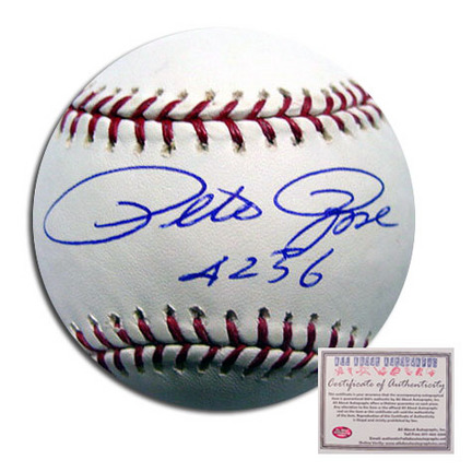 "Pete Rose Cincinnati Reds Autographed Rawlings MLB Baseball with ""4256"" Inscription"