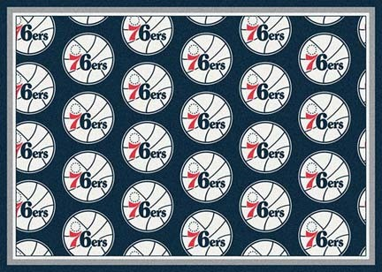 "Philadelphia 76ers 2' 1"" x 7' 8"" Team Repeat Area Rug Runner"