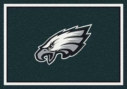 "Philadelphia Eagles 3' 10"" x 5' 4"" Team Spirit Area Rug (Green)"