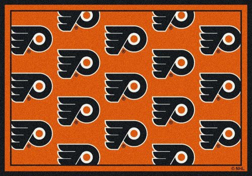 "Philadelphia Flyers 2' 1"" x 7' 8"" Team Repeat Area Rug Runner"