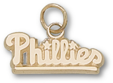 "Philadelphia Phillies 1/4"" ""Phillies"" Charm - 10KT Gold Jewelry"