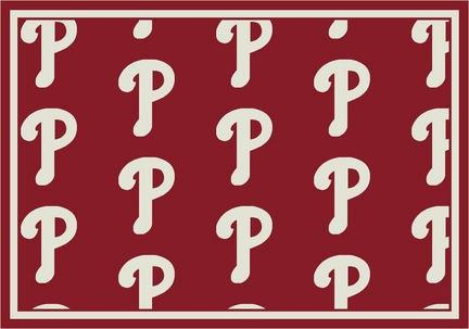 "Philadelphia Phillies 2' 1"" x 7' 8"" Team Repeat Area Rug Runner"
