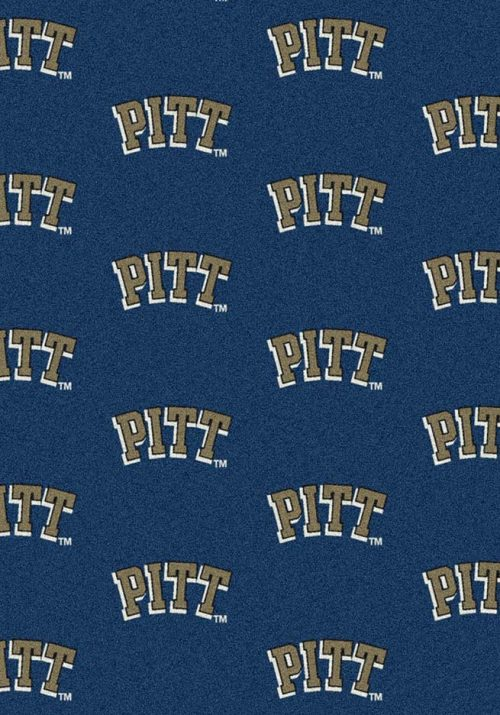"Pittsburgh Panthers 3' 10"" x 5' 4"" Team Repeat Area Rug"