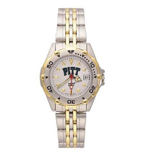 Pittsburgh Panthers All Star Watch with Stainless Steel Band - Women's from Logo Art