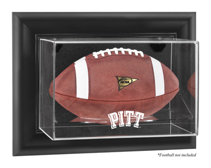Pittsburgh Panthers Black Framed Wall Mountable Logo Football Display Case
