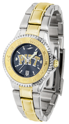 Pittsburgh Panthers Competitor AnoChrome Ladies Watch with Two-Tone Band