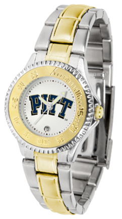 Pittsburgh Panthers Competitor Ladies Watch with Two-Tone Band