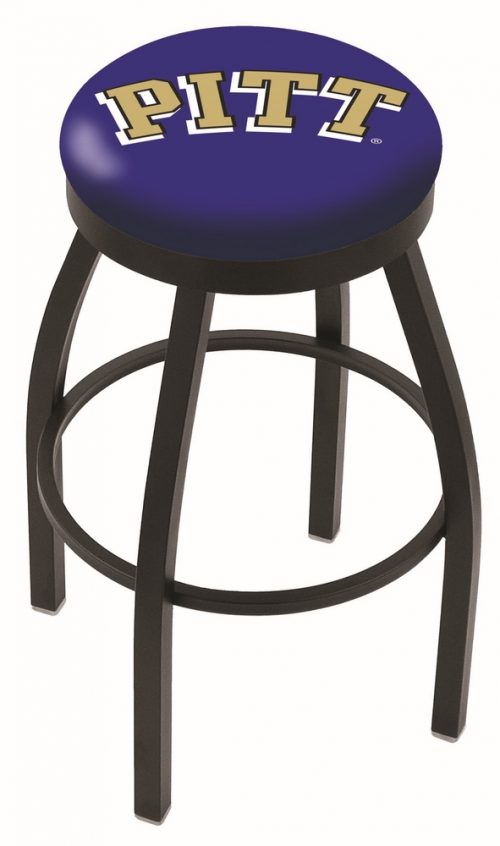 "Pittsburgh Panthers (L8B2B) 25"" Tall Logo Bar Stool by Holland Bar Stool Company (with Single Ring Swivel Black Solid Welded Base)"