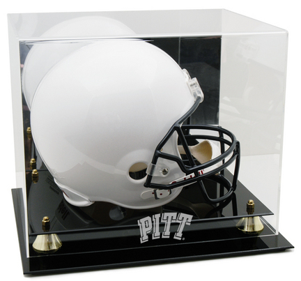 Pittsburgh Panthers Logo Golden Classic Full Size Helmet Display Case