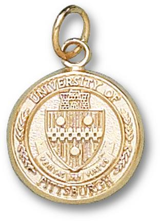 "Pittsburgh Panthers ""Seal"" 1/2"" Charm - 10KT Gold Jewelry"