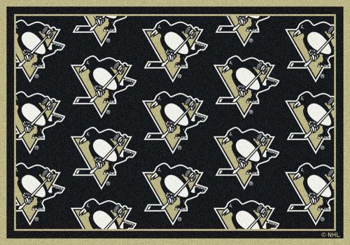 "Pittsburgh Penguins 2' 1"" x 7' 8"" Team Repeat Area Rug Runner"