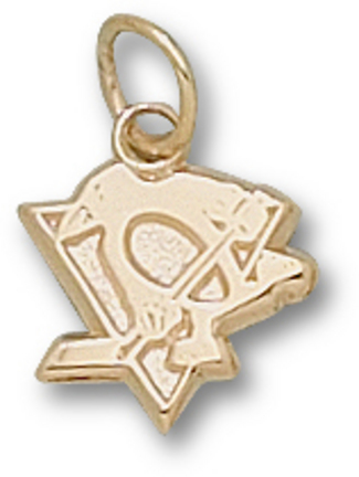 "Pittsburgh Penguins ""Skating Penguin"" 3/8"" Charm - 14KT Gold Jewelry"