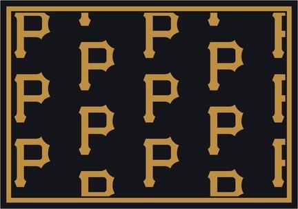 "Pittsburgh Pirates 2' 1"" x 7' 8"" Team Repeat Area Rug Runner"