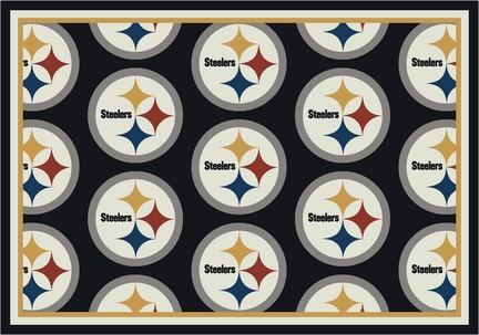 "Pittsburgh Steelers 3' 10"" x 5' 4"" Team Repeat Area Rug (Black)"
