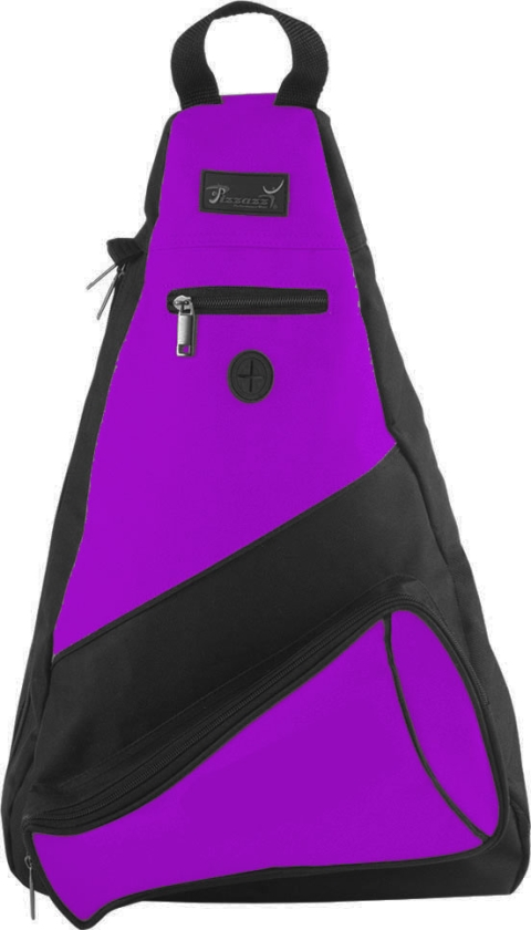 Pizzazz Performance Wear SL50 -PUR -L SL50 Megaphone Sling Pack - Purple - Large