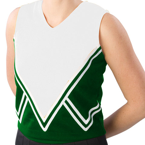 Pizzazz Performance Wear UT50 -FORWHT-YL UT50 Youth Intensity Uniform Shell - Forest Green with White - Youth Large