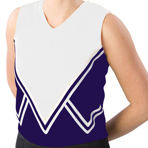 Pizzazz Performance Wear UT50 -NAVWHT-YXS UT50 Youth Intensity Uniform Shell - Navy with White - Youth X-Small