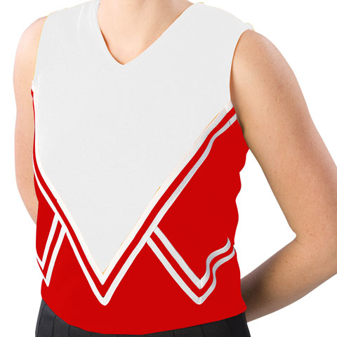 Pizzazz Performance Wear UT50 -REDWHT-YM UT50 Youth Intensity Uniform Shell - Red with White - Youth Medium