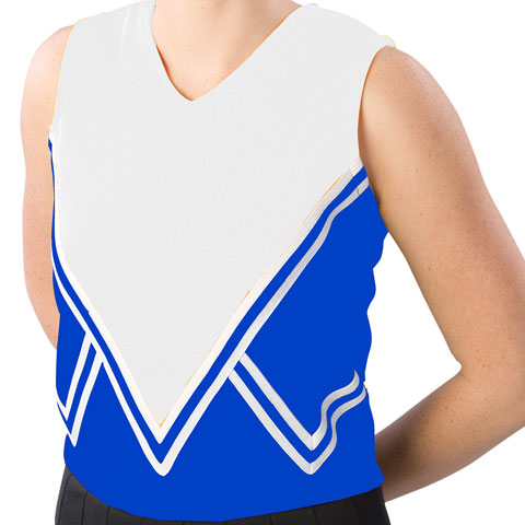 Pizzazz Performance Wear UT50 -ROYWHT-YXS UT50 Youth Intensity Uniform Shell - Royal with White - Youth X-Small