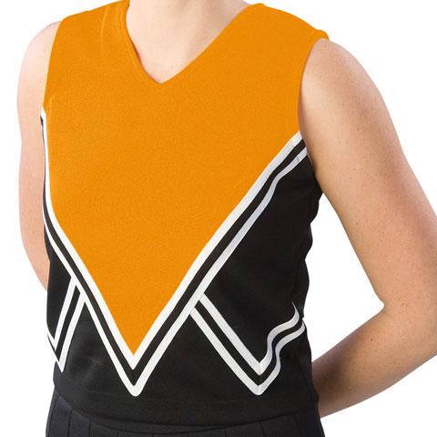 Pizzazz Performance Wear UT55 -BLKORA-AXL UT55 Adult Intensity Uniform Shell - Black with Orange - Adult X-Large