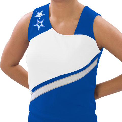 Pizzazz Performance Wear UT70 -ROYWHT-YS UT70 Youth Supernova Uniform Shell - Royal with White - Youth Small