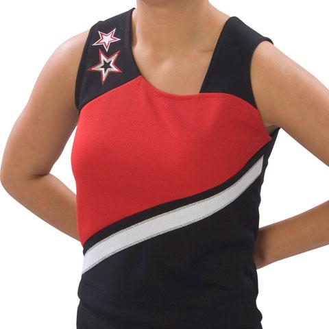 Pizzazz Performance Wear UT75 -BLKRED-AM UT75 Adult Supernova Uniform Shell - Black with Red - Adult Medium