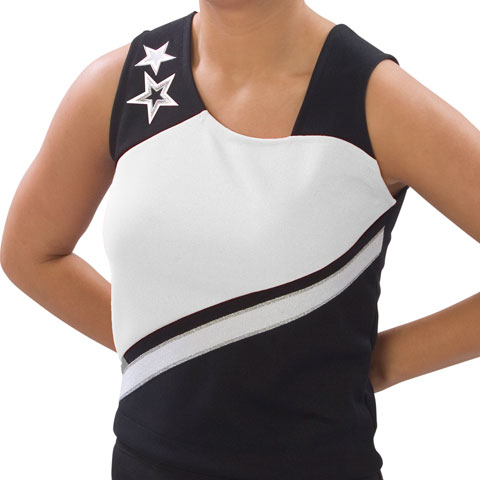 Pizzazz Performance Wear UT75 -BLKWHT-AM UT75 Adult Supernova Uniform Shell - Black with White - Adult Medium