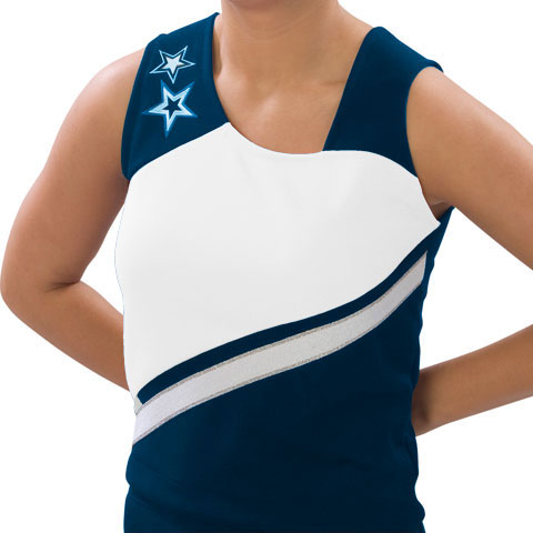 Pizzazz Performance Wear UT75 -NAVWHT-2XL UT75 Adult Supernova Uniform Shell - Navy with White - 2XL